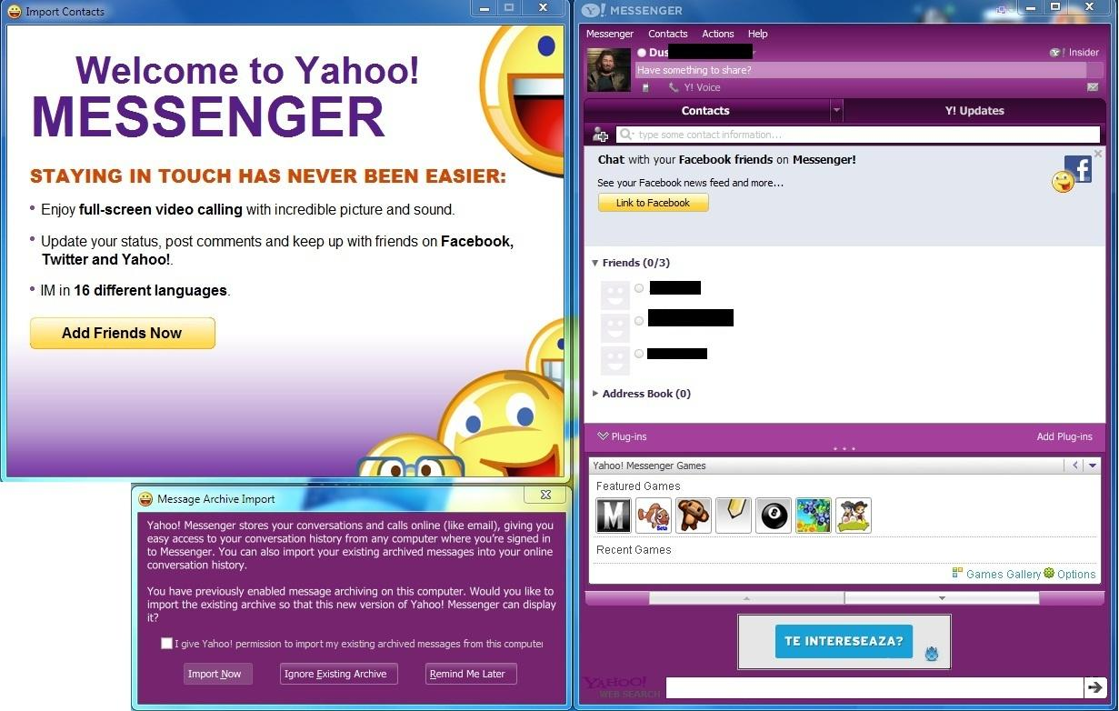 Download Yahoo Messenger 11 Beta with Games, Facebook and