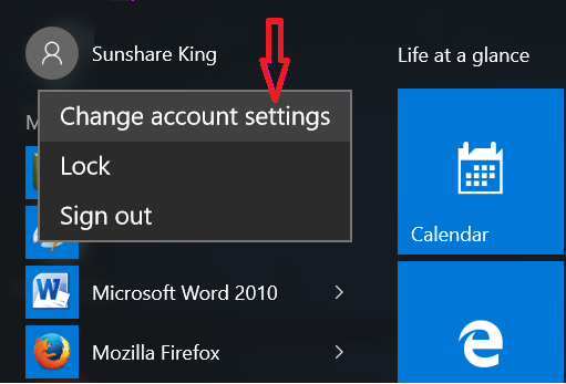 Setting and changing your Windows account avatar